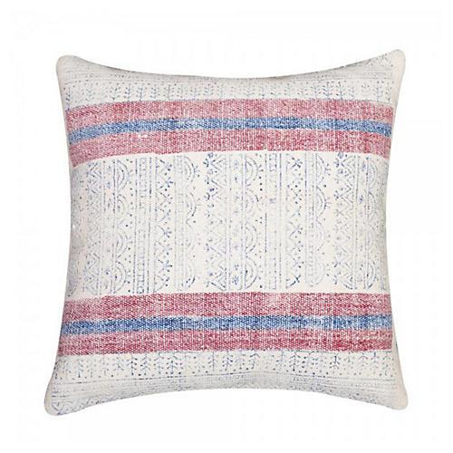 Sienna 20x20 Cotton Pillow, White