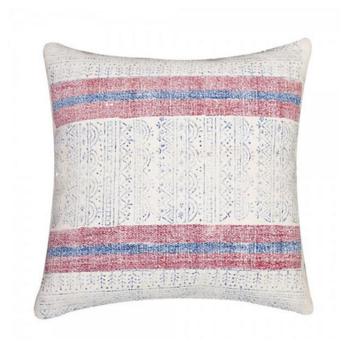 Sienna 20x20 Cotton Pillow, White