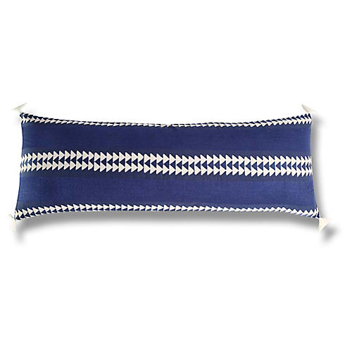 Shana Cotton Pillow, Indigo