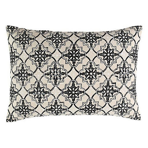 Zali 14x20 Cotton Pillow, Black