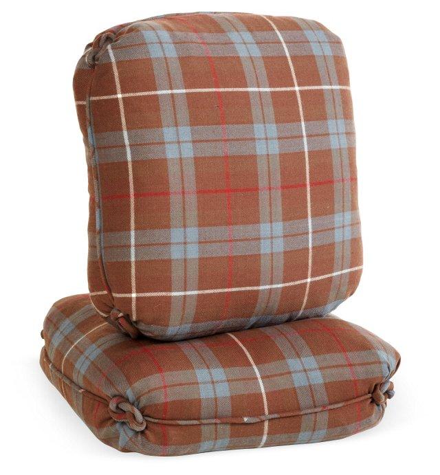 Plaid Accent Pillows, Pair