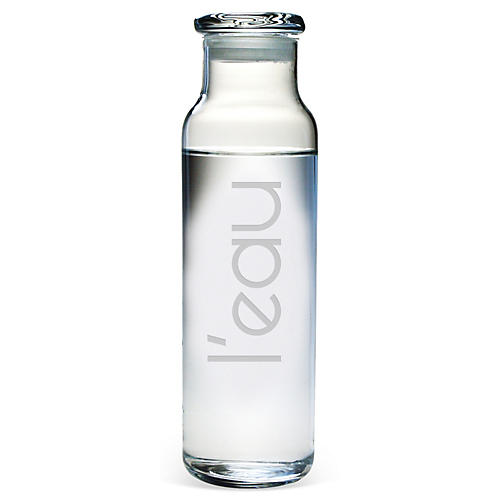 L'eau Water Bottle with Lid, 24oz
