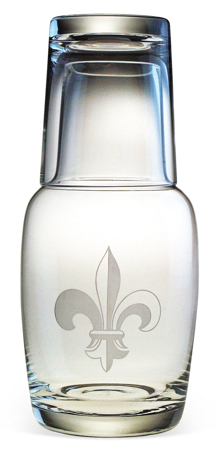 Fleur-de-Lis Night Bottle Set, 32oz