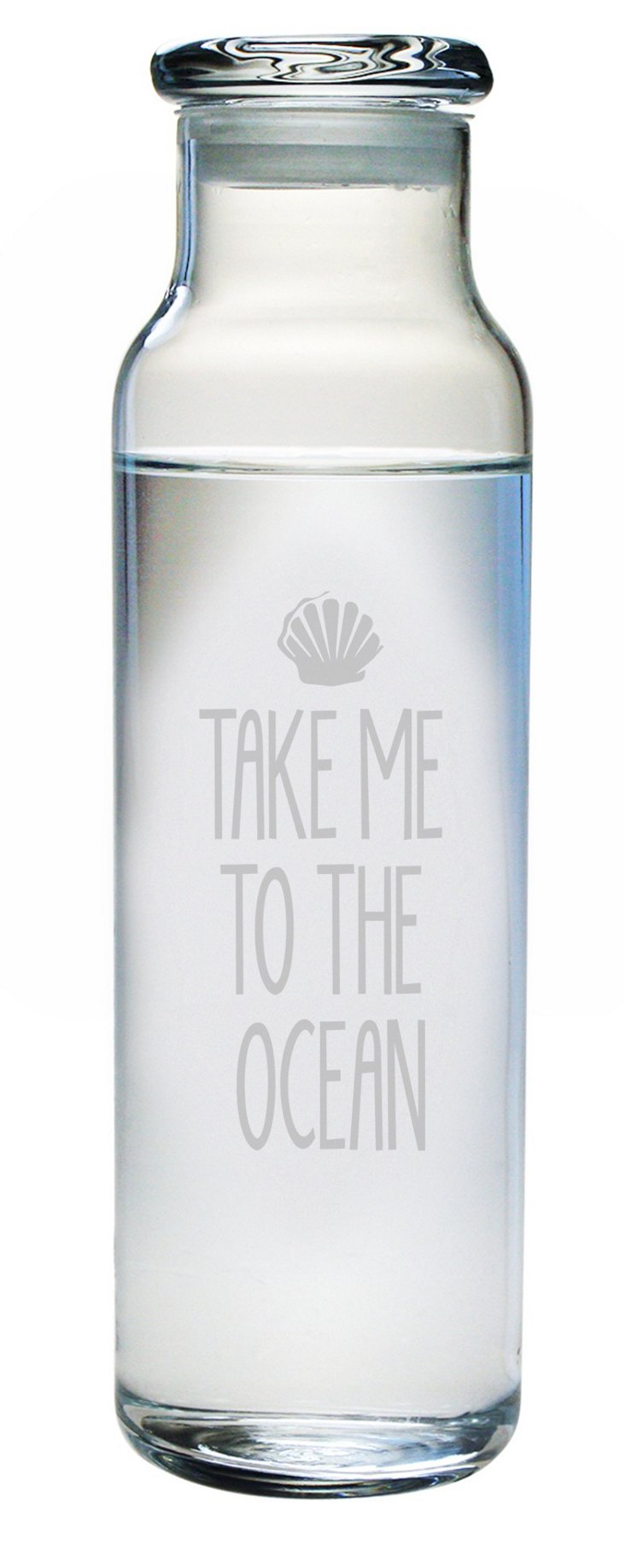 """Take Me To The Ocean"" Lidded Carafe"