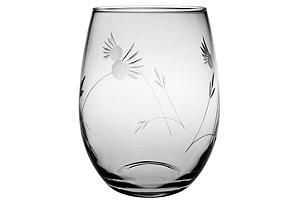 S/4 Margo Hand-Cut Stemless Wineglasses
