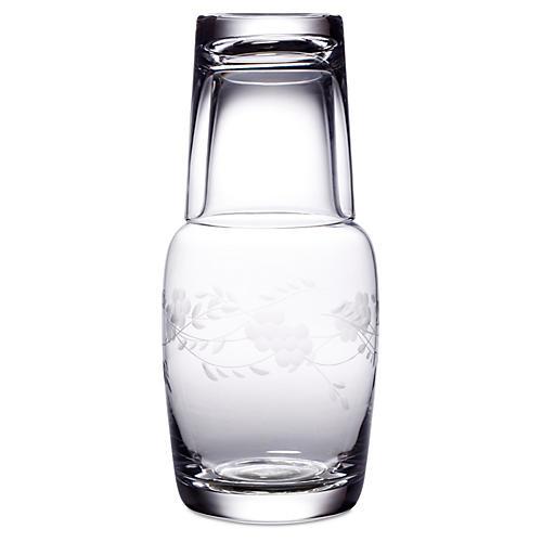 Adair Handcut Night Bottle Set, 32 Oz