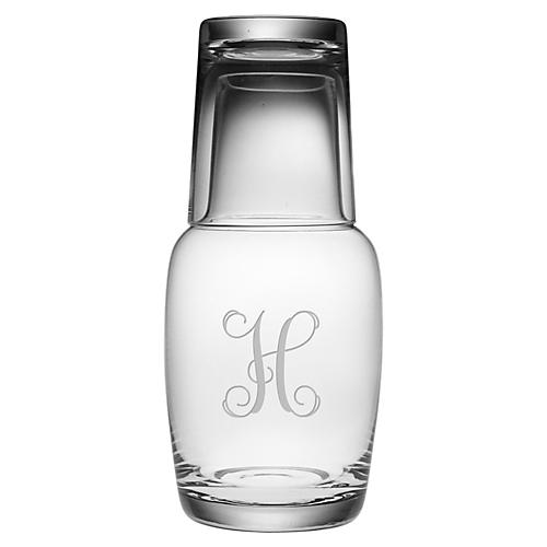 Vine Monogram Night Bottle Set, 32oz, Le