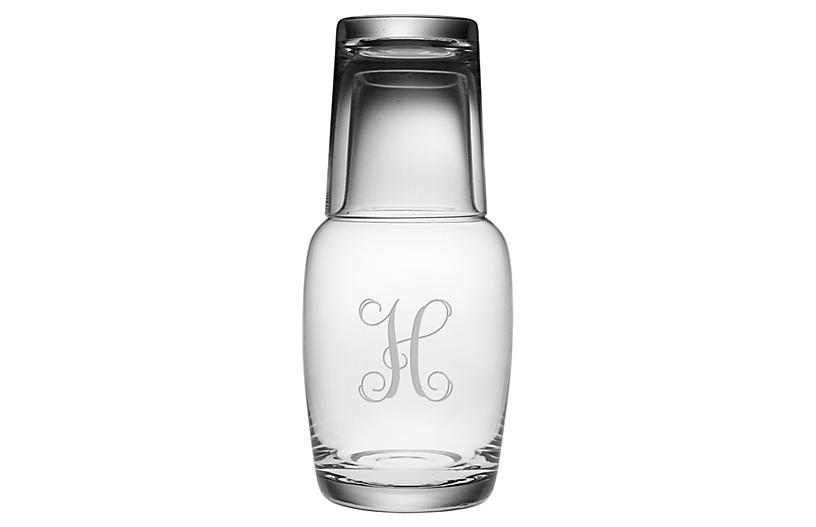 Asst. of 2 Vine Monogram Night Bottle Set