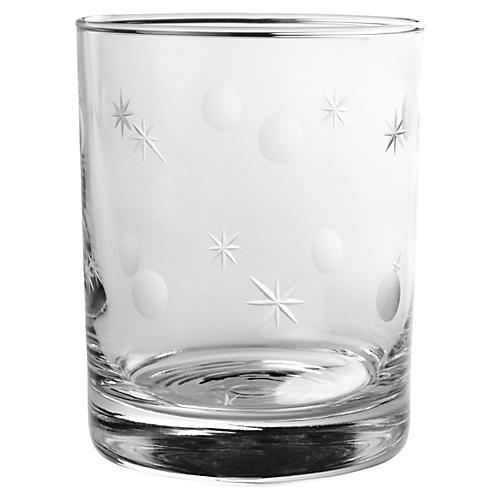 S/4 Double Norse Hand-cut Rocks Glasses