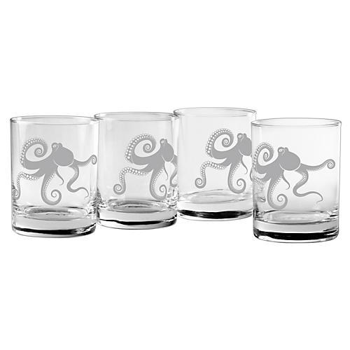S/4 Kraken Rocks Glasses