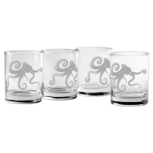 S/4 Kraken Rocks Glasses