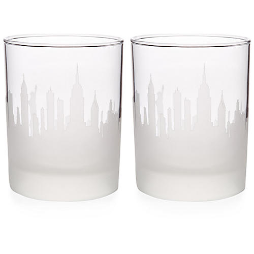 S/2 NYC Skyline DOF Glasses, Clear