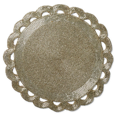 S/2 Scallop Edge Place Mats, Silver