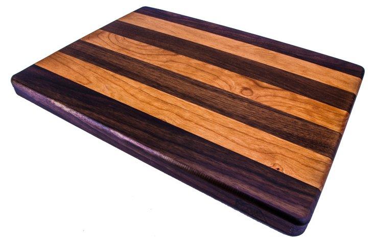 "Walnut & Cherry Edge Grain Board, 16"""