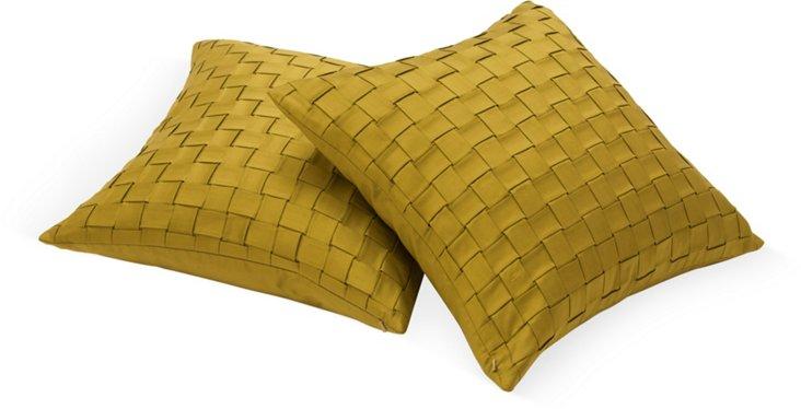 Mohair, Silk & Velvet Pillow