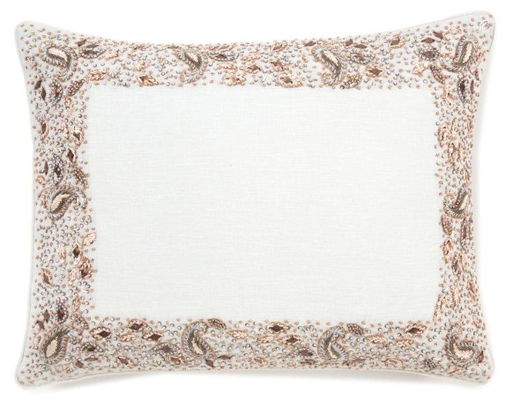 Larkspur 12x16 Pillow, Celadon