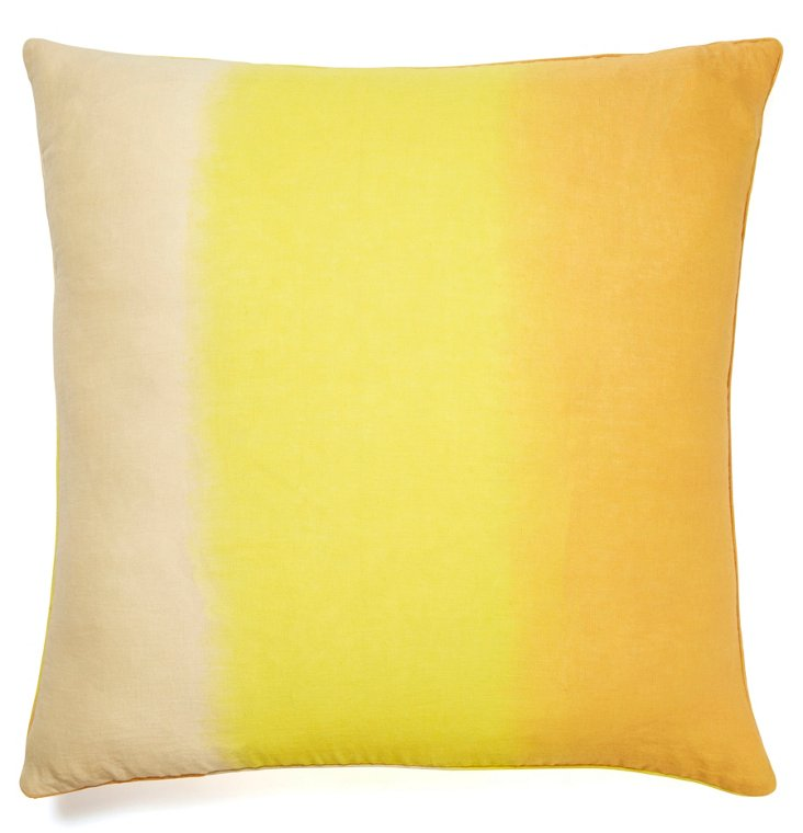 Windflower 24x24 Linen Pillow, Yellow