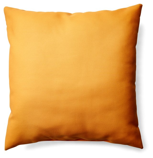 Solid 20x20 Outdoor Pillow, Yellow