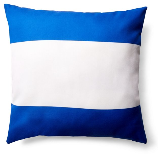 Stripe 20x20 Outdoor Pillow, Blue
