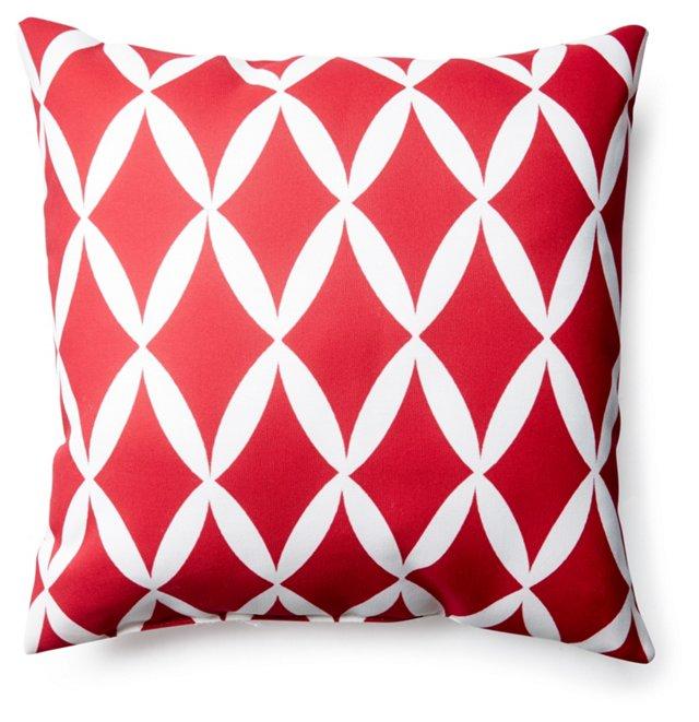 Geo 20x20 Outdoor Pillow, Red