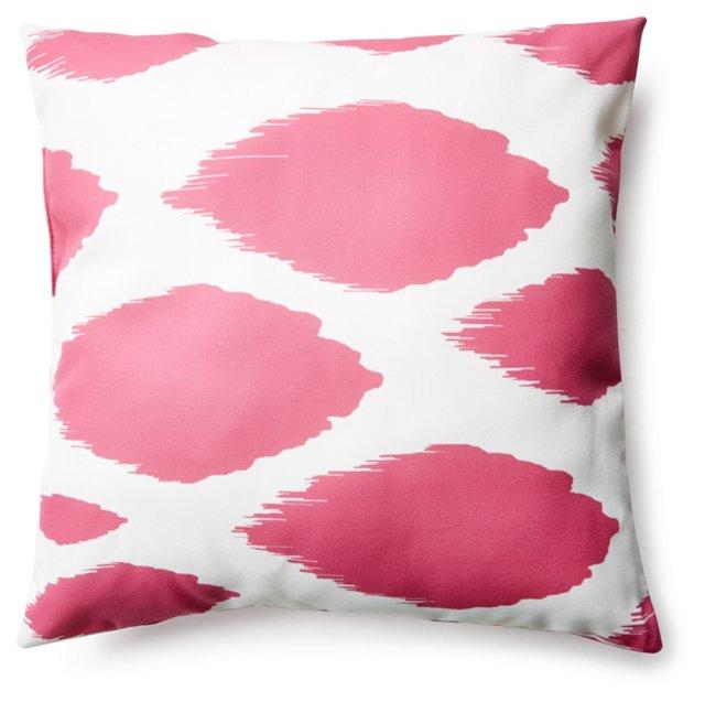 Ikat 20x20 Outdoor Pillow, Pink