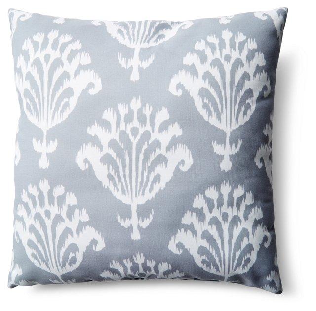 Bold Ikat 20x20 Outdoor Pillow, Gray