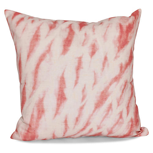 Shibori Outdoor Pillow, Coral