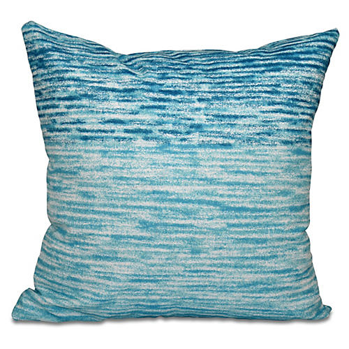 Ocean View Outdoor Pillow, Teal
