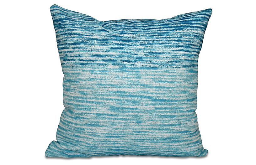 Ocean View Outdoor Pillow, Teal