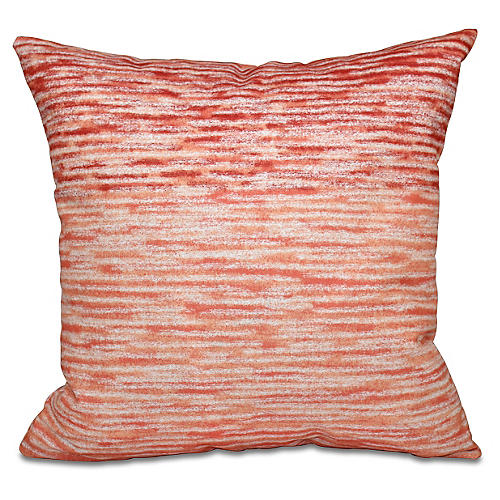Ocean View Outdoor Pillow, Coral
