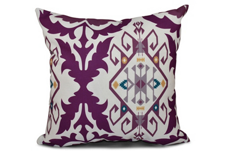 Bombay Medallion Pillow, Purple
