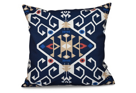 Jodhpur Medallion Pillow, Navy