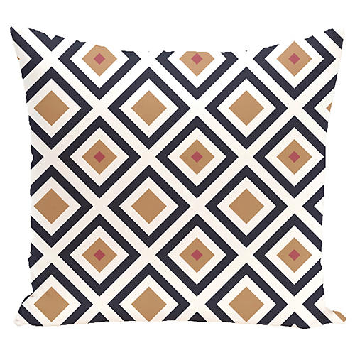 Diamond Outdoor Pillow, Caramel