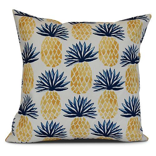 Pineapple Outdoor Pillow, Blue