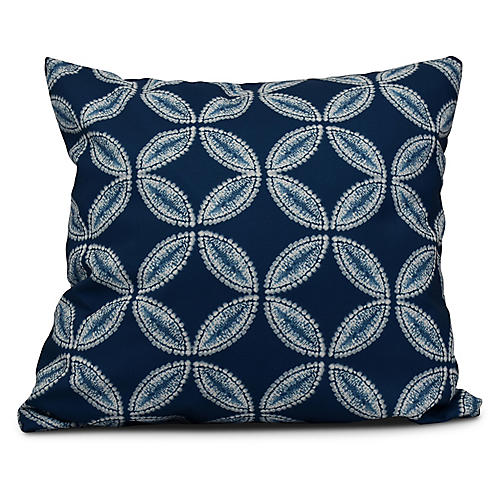 Tidepool Outdoor Pillow, Blue