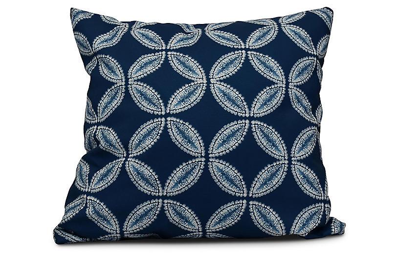 Tidepool Outdoor Pillow, Blue