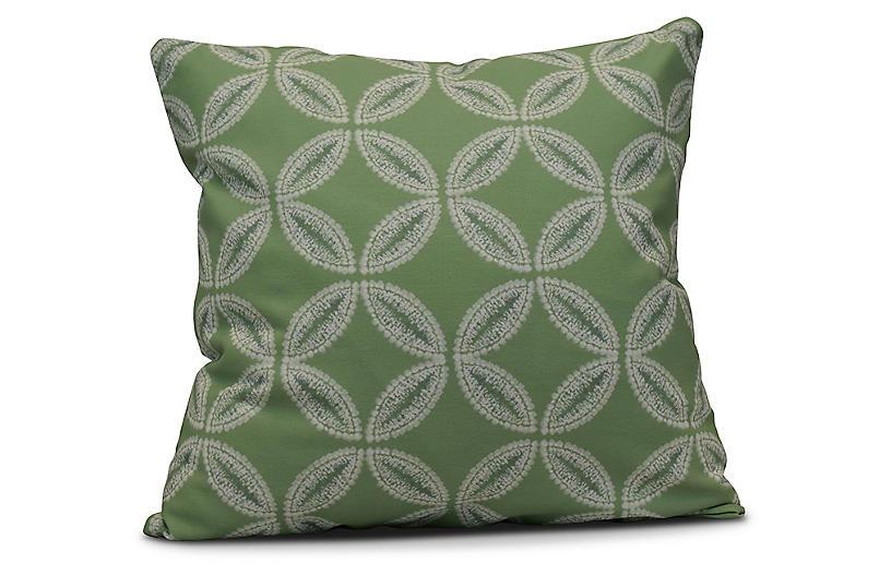 Tidepool Outdoor Pillow, Green