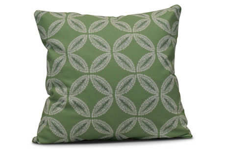 Tidepool Outdoor Pillow, Green