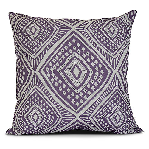 Diamond Eye Outdoor Pillow, Purple