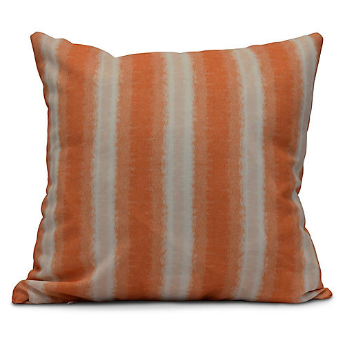 Sea Lines Outdoor Pillow, Orange