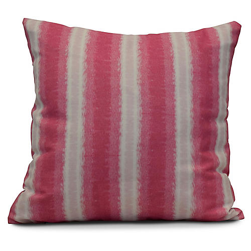 Sea Lines Outdoor Pillow, Pink