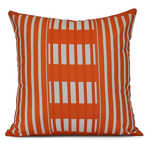 Stripe Outdoor Pillow, Orange