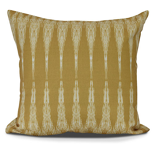 Ikat Outdoor Pillow, Gold