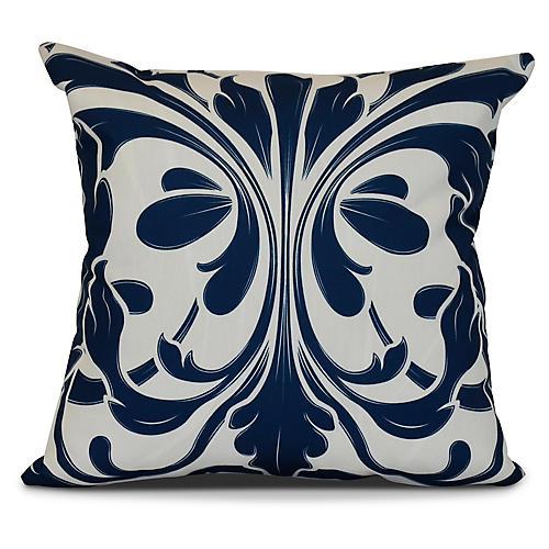Butterfly Outdoor Pillow, Blue