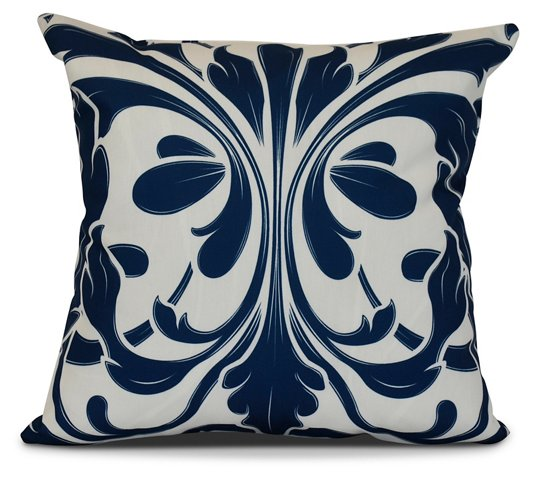 Butterfly Outdoor Pillow Blue Poolside Style Outdoor Essentials