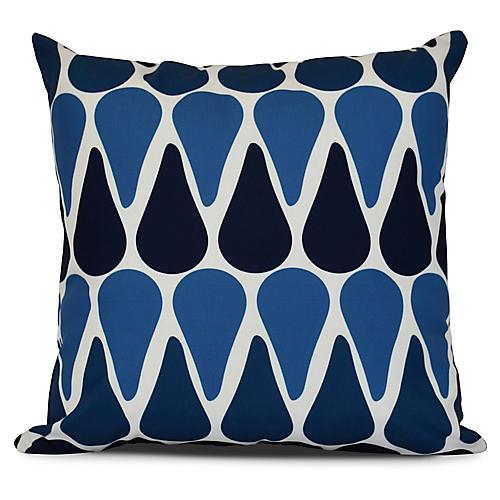 Chevron Outdoor Pillow, Navy