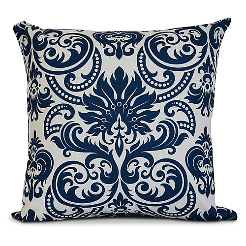 French Outdoor Pillow, Blue