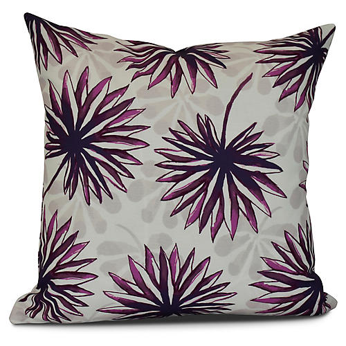 Tropical Outdoor Pillow, Purple