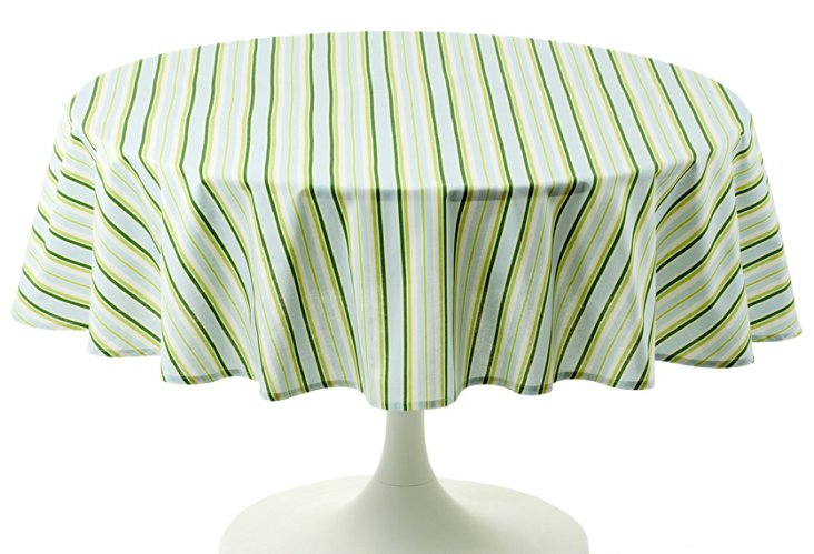 Round Basil Stripe Table Cloth, 70""
