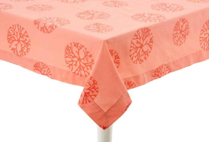 "Tablecloth, 70"" x 108"" Coral"